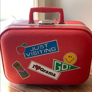 Adorable suitcase for travel or storing